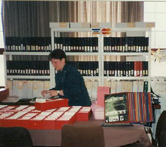 Booth Holder at Philatelic Stamp Shows & Trade Shows