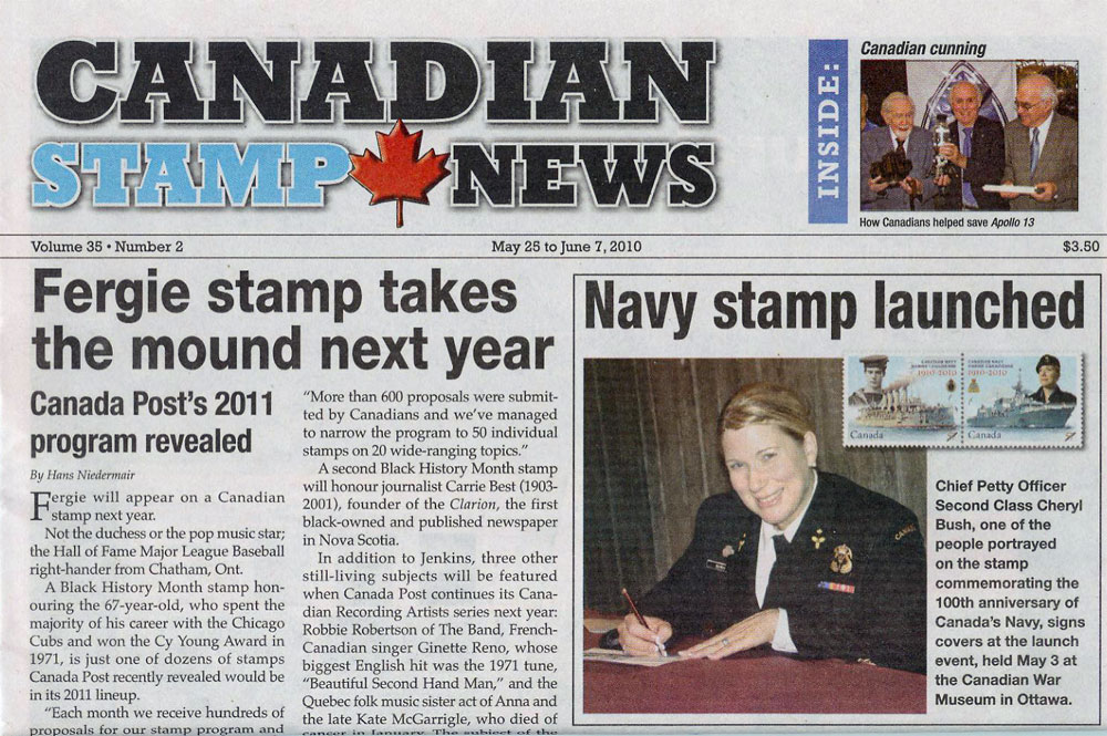 Canadian Navy Stamp Launch 1910-2010