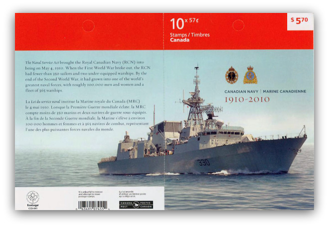 Canadian Navy Booklet Stamps
