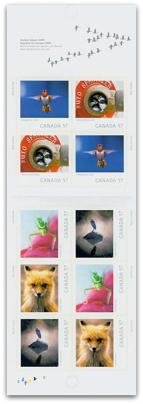 Canadian Geographic Wildlife Photography on Stamps Booklet