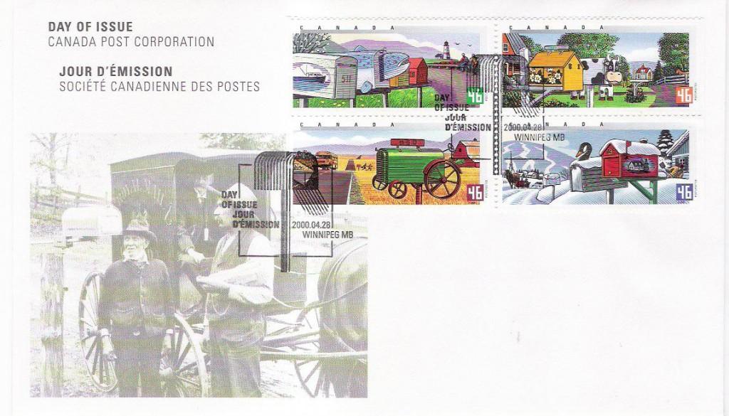 Canada-Mailbox-FDC-Millennium-2000