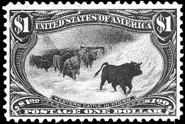 USA 1898 Cattle in a Storm Scott #292
