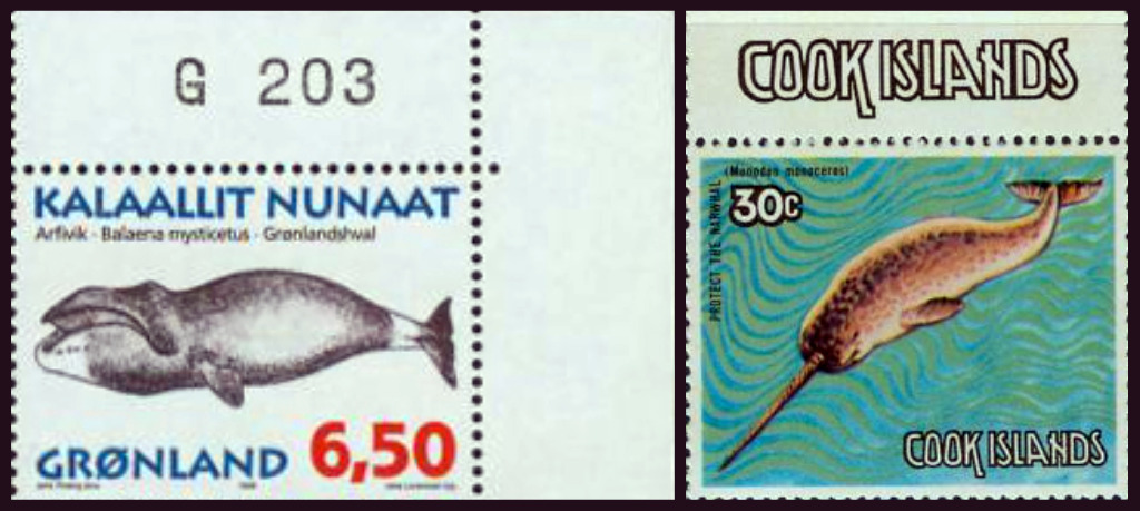 Whales On Stamps Groenland Cook