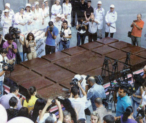 Guinness 2010 record for the biggest chocolate bar in the world
