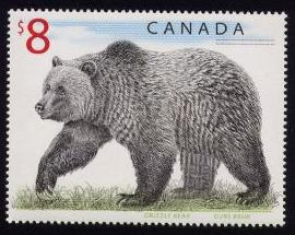 canadian-stamps-grizzly-bear