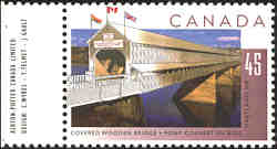 Hartland Covered Bridge - New Brunswick -Canadian Stamps