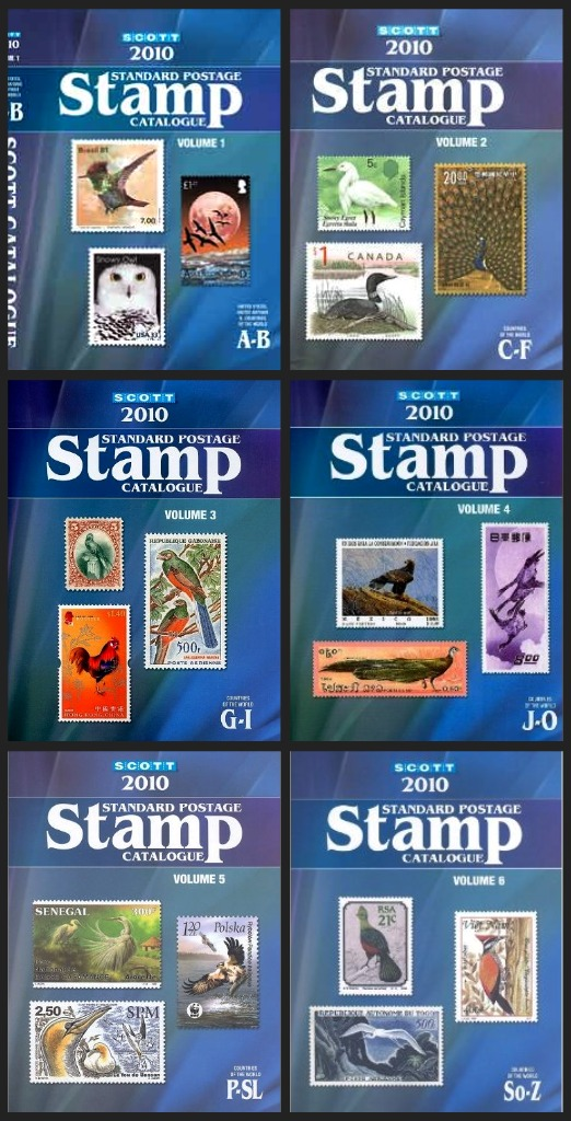 Scott Standard Postage Stamp Catalogues 2010