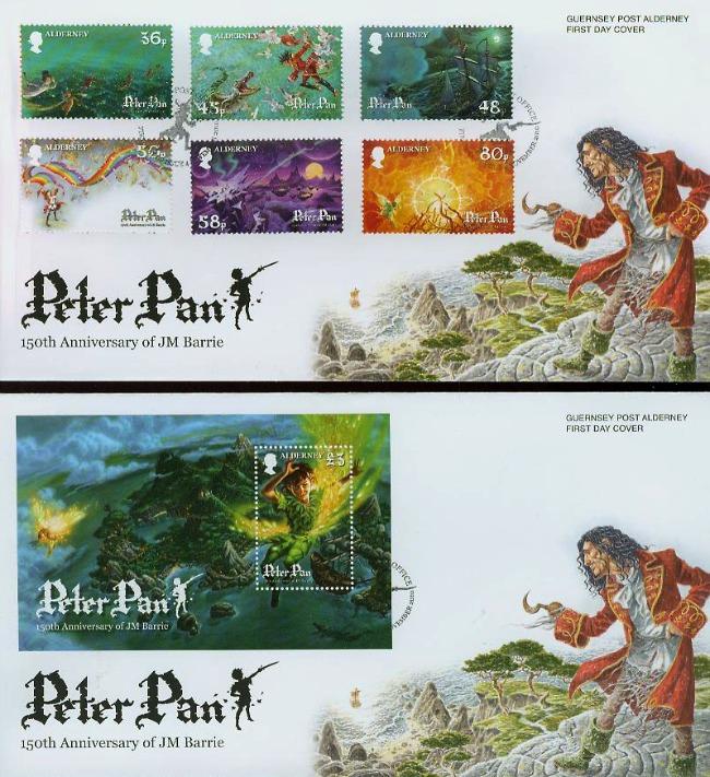 Alderney Peter Pan JM Barrie 150th Anniversary