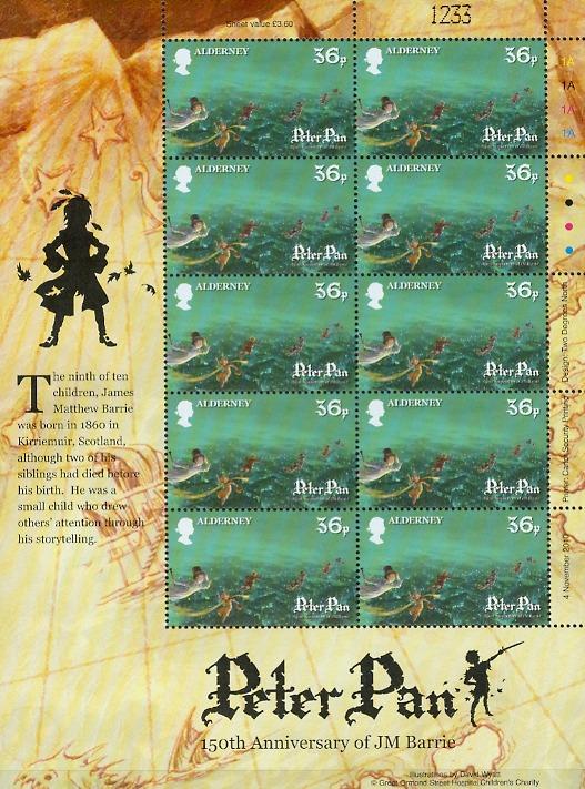 Peter Pan 150th Ann JM Barrie Alderney
