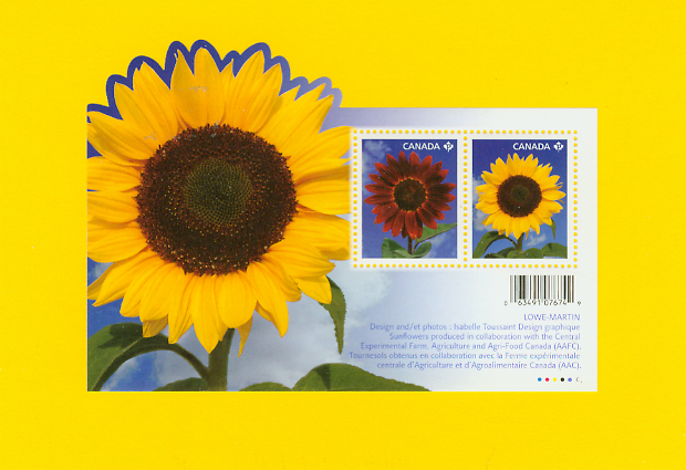 Sunflowers Canadian Stamps