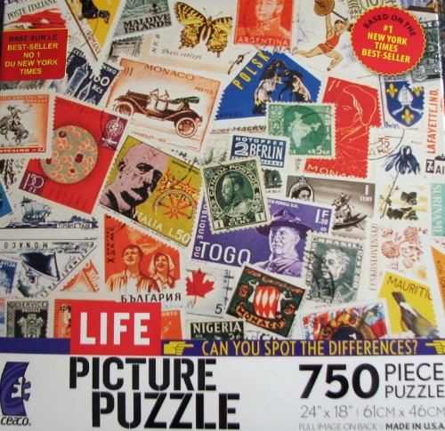 Postage Stamps on Jigsaw Puzzle - Life Picture Puzzle
