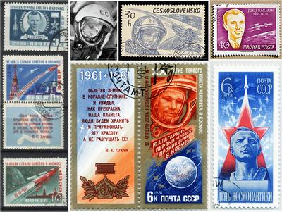Yuri Gagarin - Russia stamps