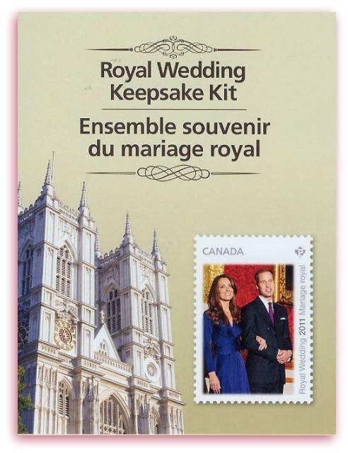 Royal Wedding Keepsake kit (Canada)