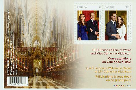 Royal Wedding Keepsake Souvenir Sheet