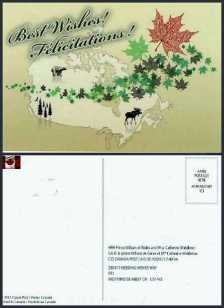 Royal Wedding Keepsake Best Wishes Postcard