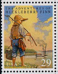 Adventures of Huckleberry Finn - Mark Twain - Postage Stamps