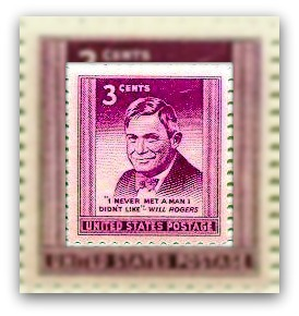 USA 1948 Will Rogers Scott 975 Postage Stamps