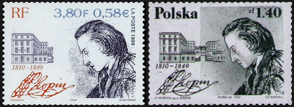Frederic-Chopin-1999-Joint-Issue-France-Poland