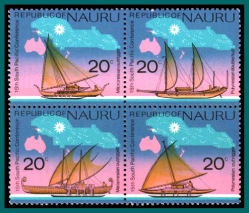 nauru-canoe-stamps-1975-scott 127a