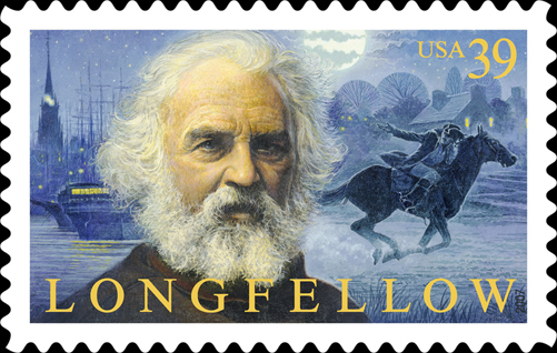 Henry Wadsworth Longfellow - USA Postage stamp