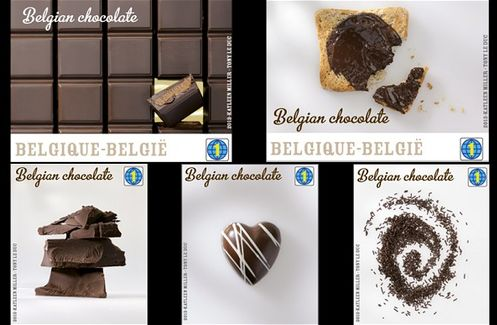 Belgium 2013 chocolate flavored postage stamps