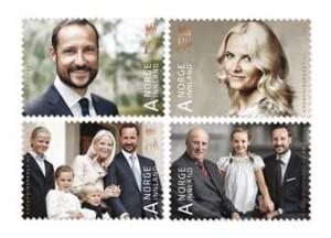 Norway-Royal-Anniversaries-Crown-40th-regular-stamps