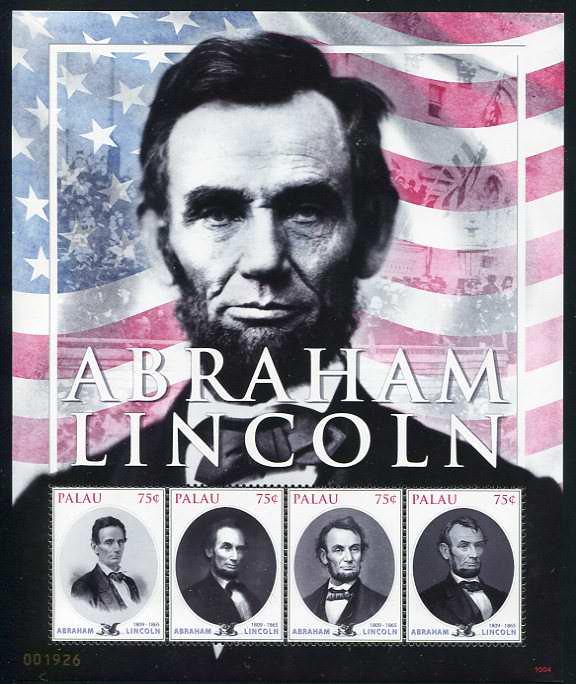 Palau-Abraham-Lincoln-Postage-Stamps-Sheetlet