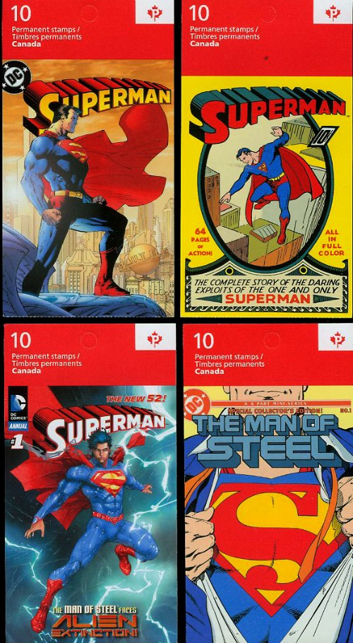 canadian superman postage stamps on FDC