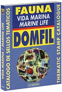 Domfil Sealife and Shells On stamps