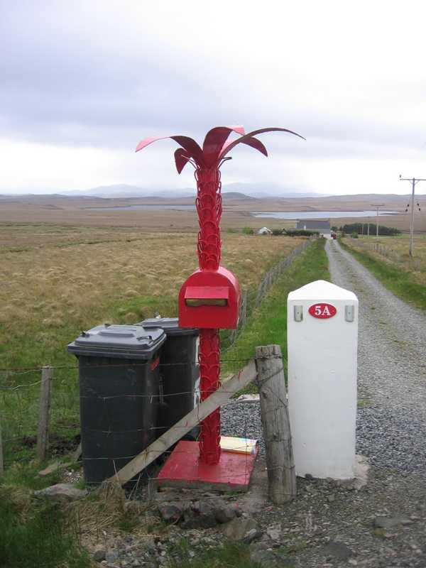 Street Letter Mailbox,Palm Tree Shape, Isle of Lewis,Scotland