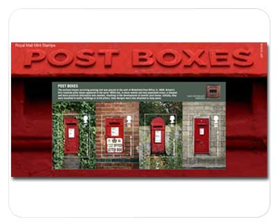 Great Britain Post boxes Postage Stamps 2009