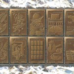 France - Chocolate Postage Stamp Sheetlet