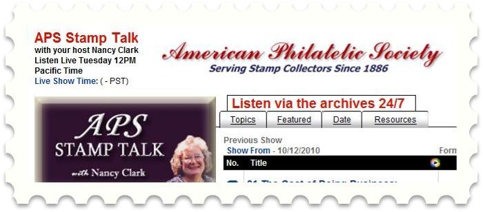 APS Stamp Talk with Nancy Clarke on WS radio