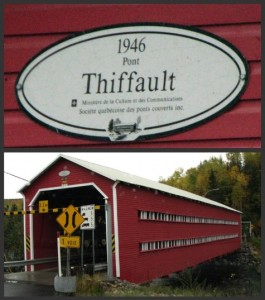 Covered bridge thiffault 1946 Province of Quebec Canada Pont Couvert