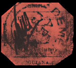 British Guiana One Cent Magenta Rare Stamp