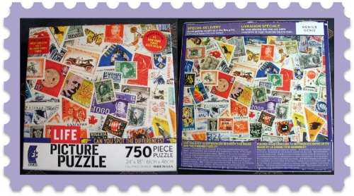 Postage Stamps On Life Picture Puzzle