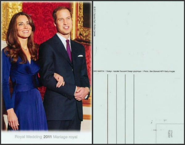 Royal Wedding William Kate Postcard Keepsake Kit