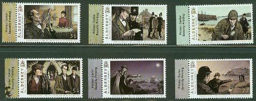 sherlock-holmes-alderney-bull-set-six-stamps-margins