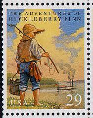 Adventures of Huckleberry Finn - Mark Twain - Postage Stamps