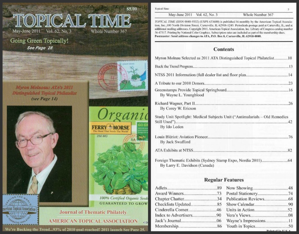 Journal of Thematic Philately by ATA - May June 2011 Edition