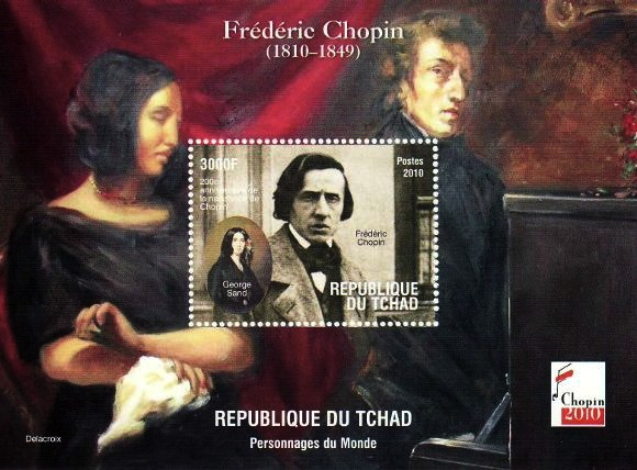 Chad-2010-Frederic-Chopin-Postage-Stamps