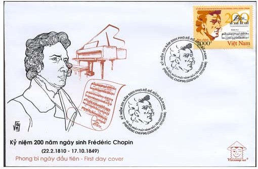 Frederic Chopin -  Vietnam Philatelic First Day Cover