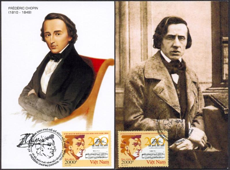 Frederic Chopin on Vietnam Maxicards