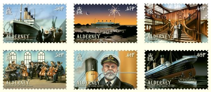 2012 Alderney Titanic Set of 6 Stamps