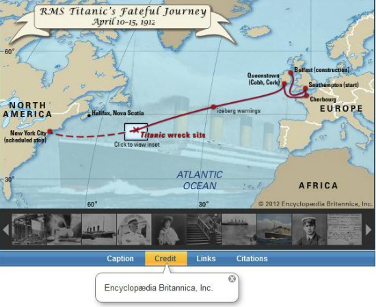 Encyclopedia Britannica-RMS Titanic-Interactive-Map