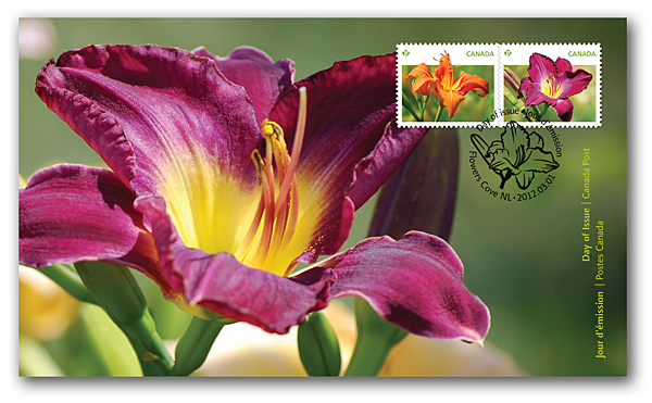 Canada  Daylilies First Day Cover March 2012