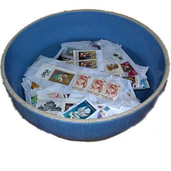 soaking off postage stamps from paper