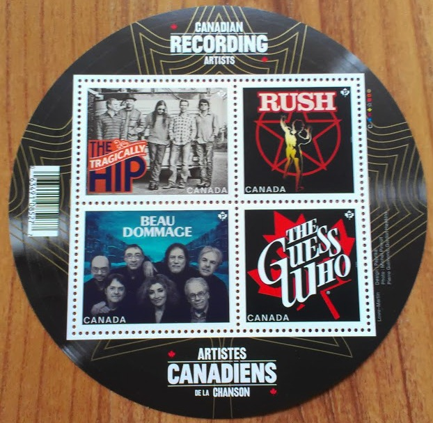 canadian stamps musical bands rush