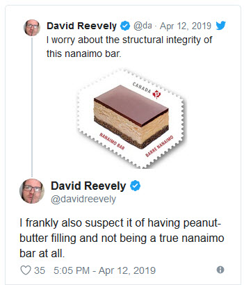 twitter reactions to nanaimo bar postage stamp