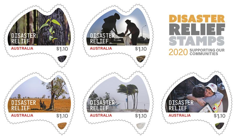Australia Disaster Relief Odd Shaped Postage Stamps